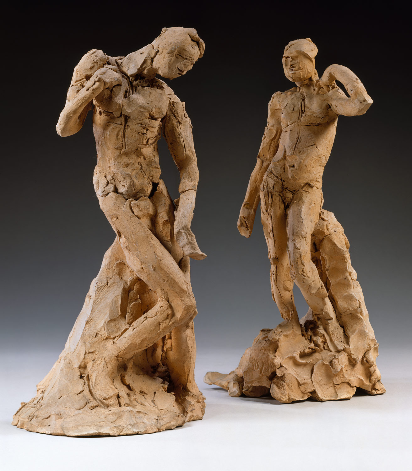Pair of Standing Nude Male Figures Demonstrating the Principles of Contrapposto According to Michelangelo and Phidias