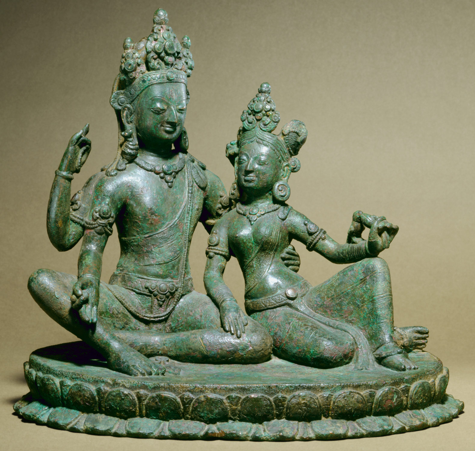Shiva Seated with Parvati