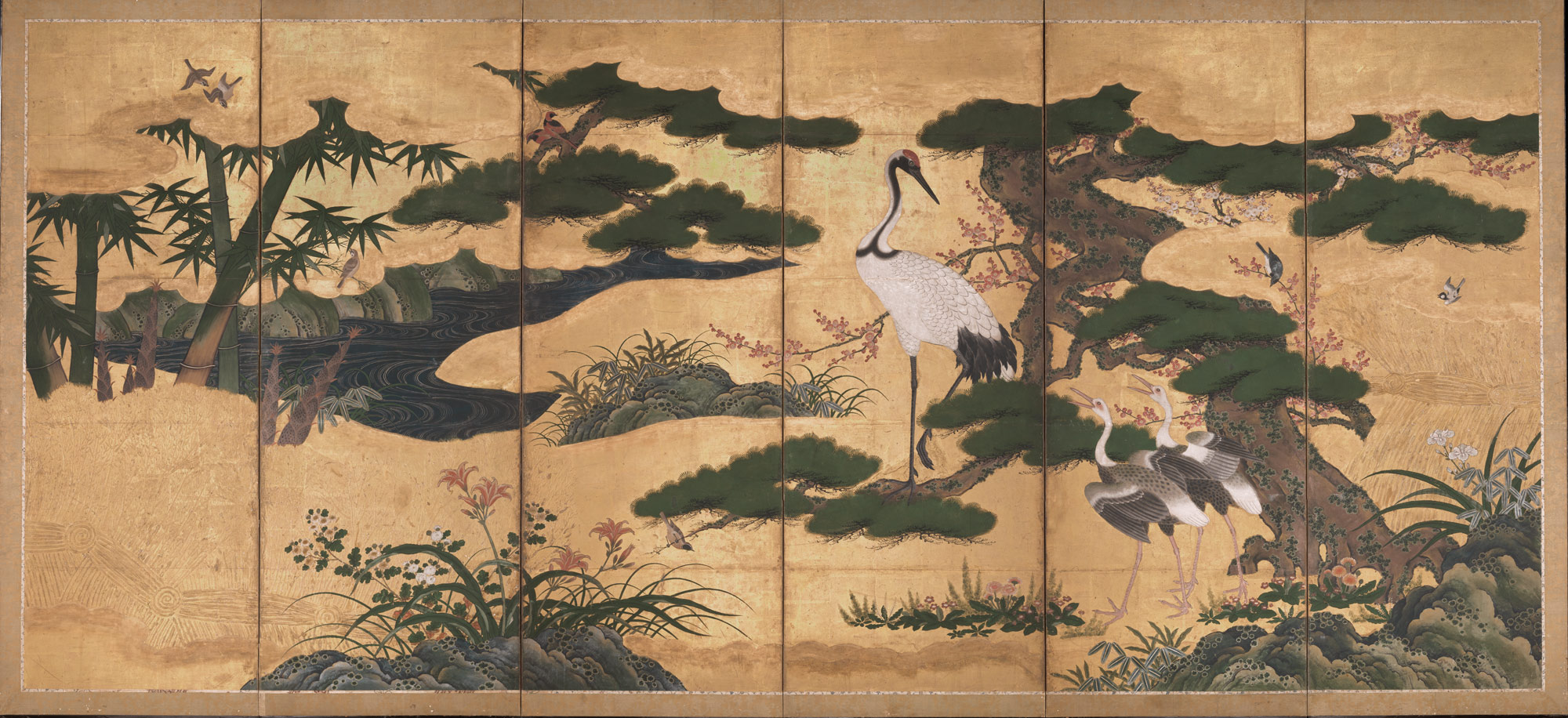 Birds And Flowers Of The Four Seasons Work Of Art