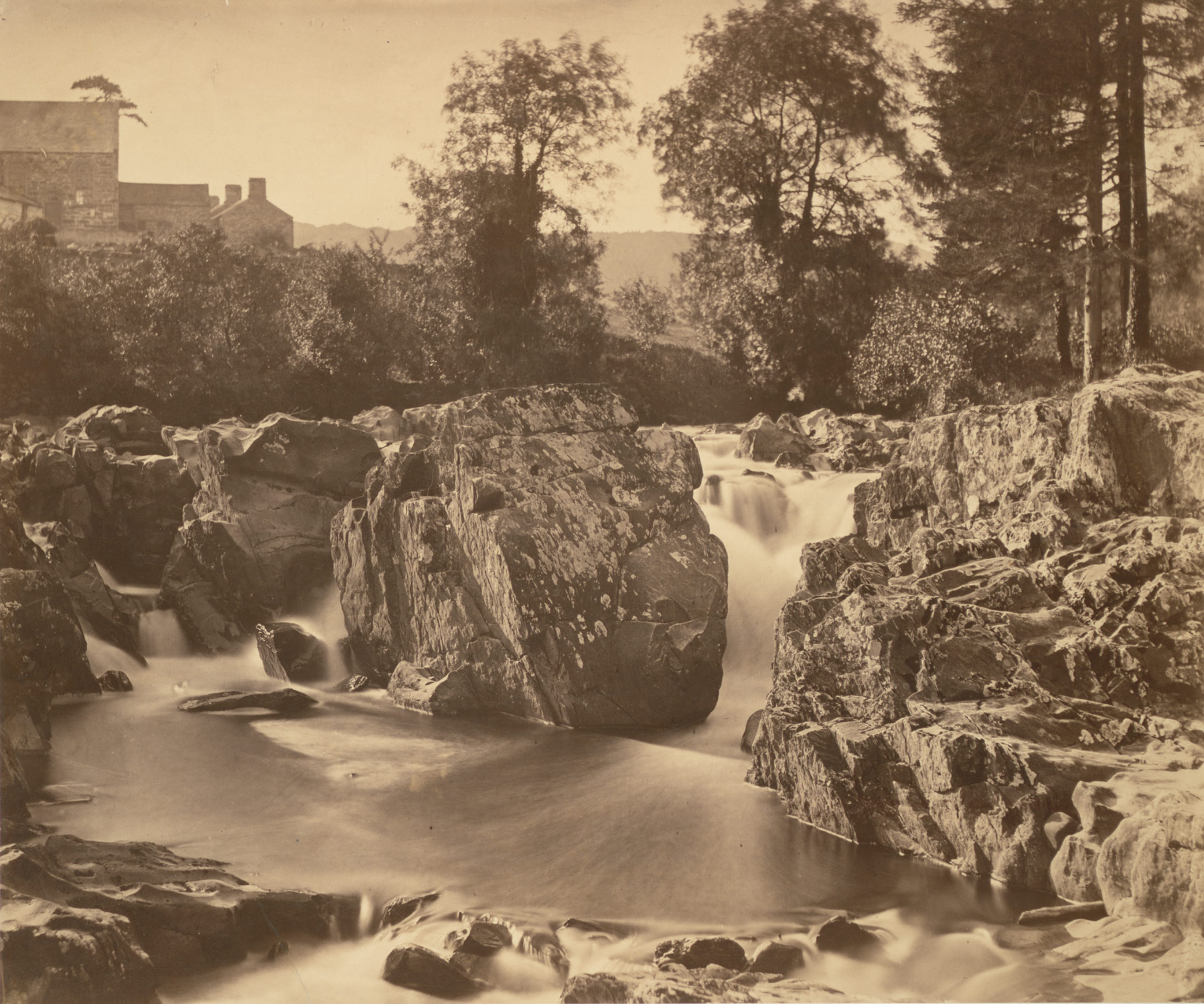 Falls of the Llugwy, at Pont-y-Pair