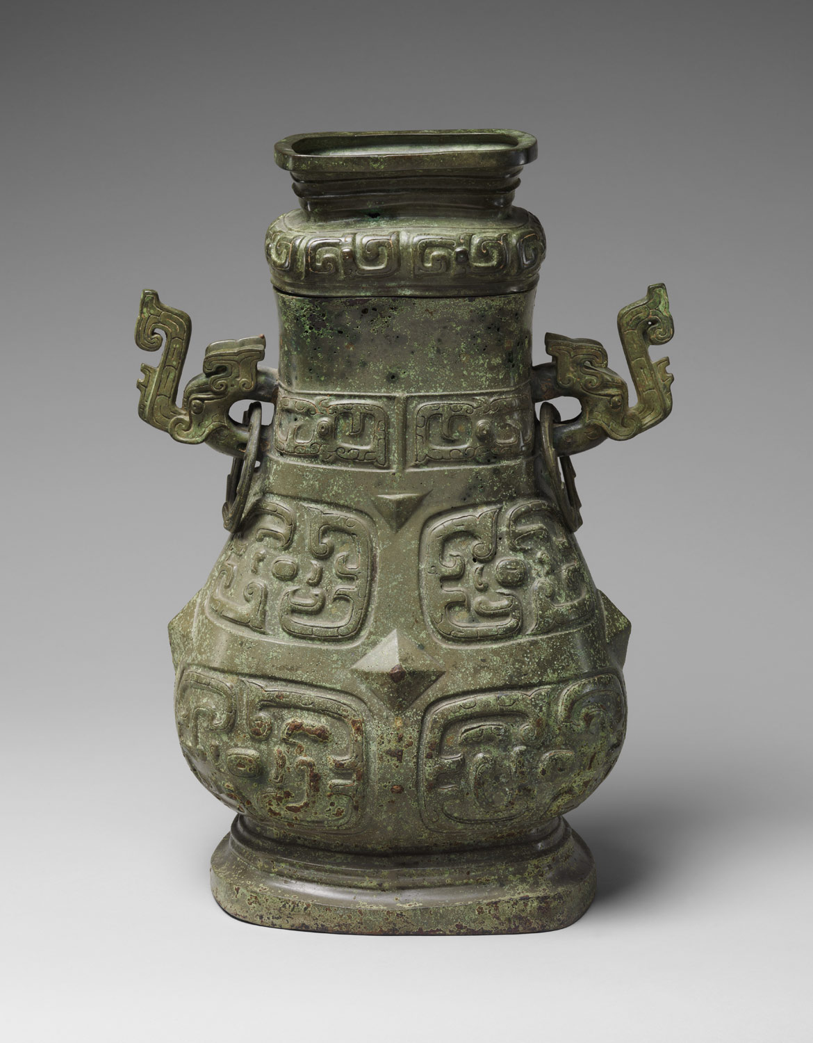 Ritual Wine Container with Cover (Hu)