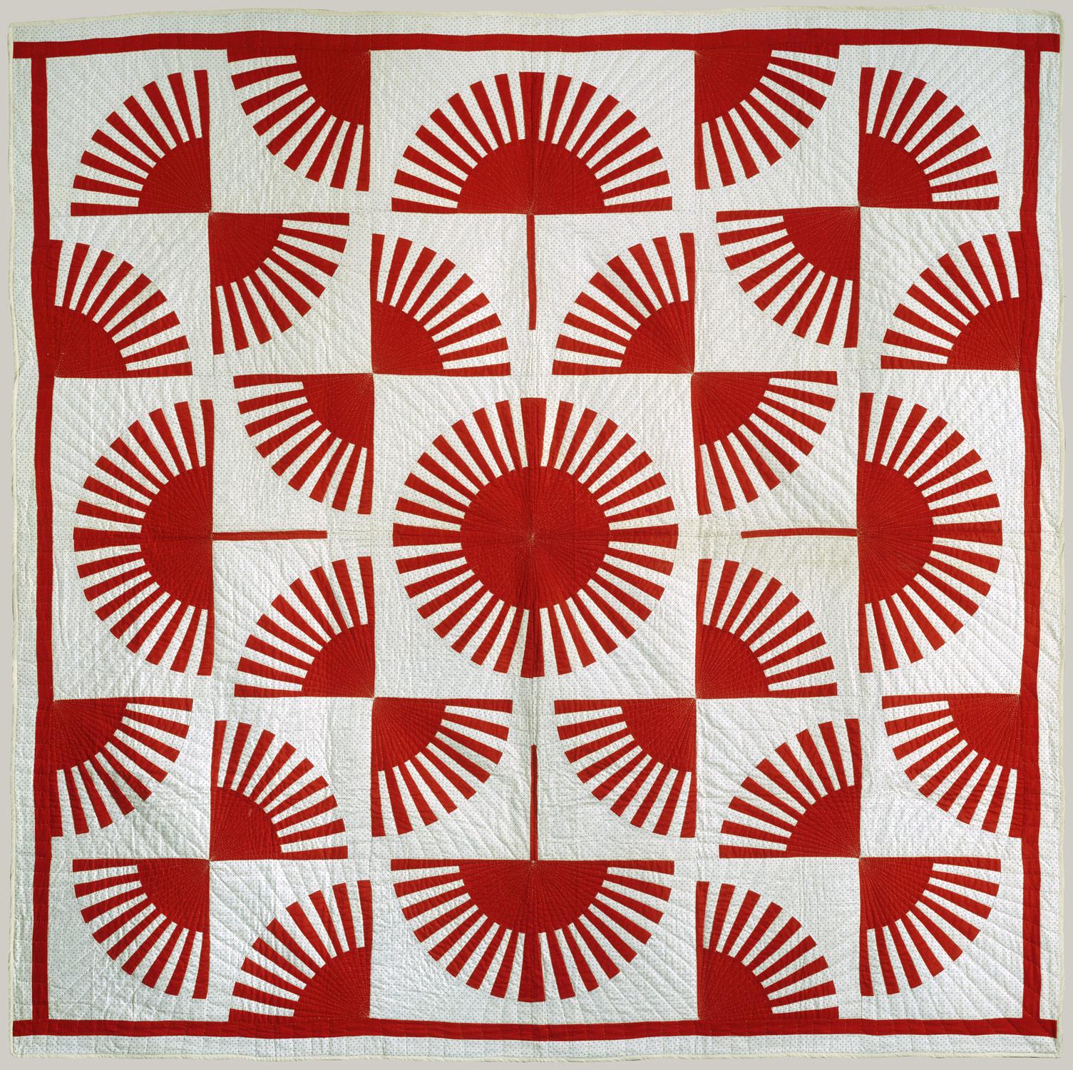 quilt fan pattern work of art heilbrunn timeline of art history