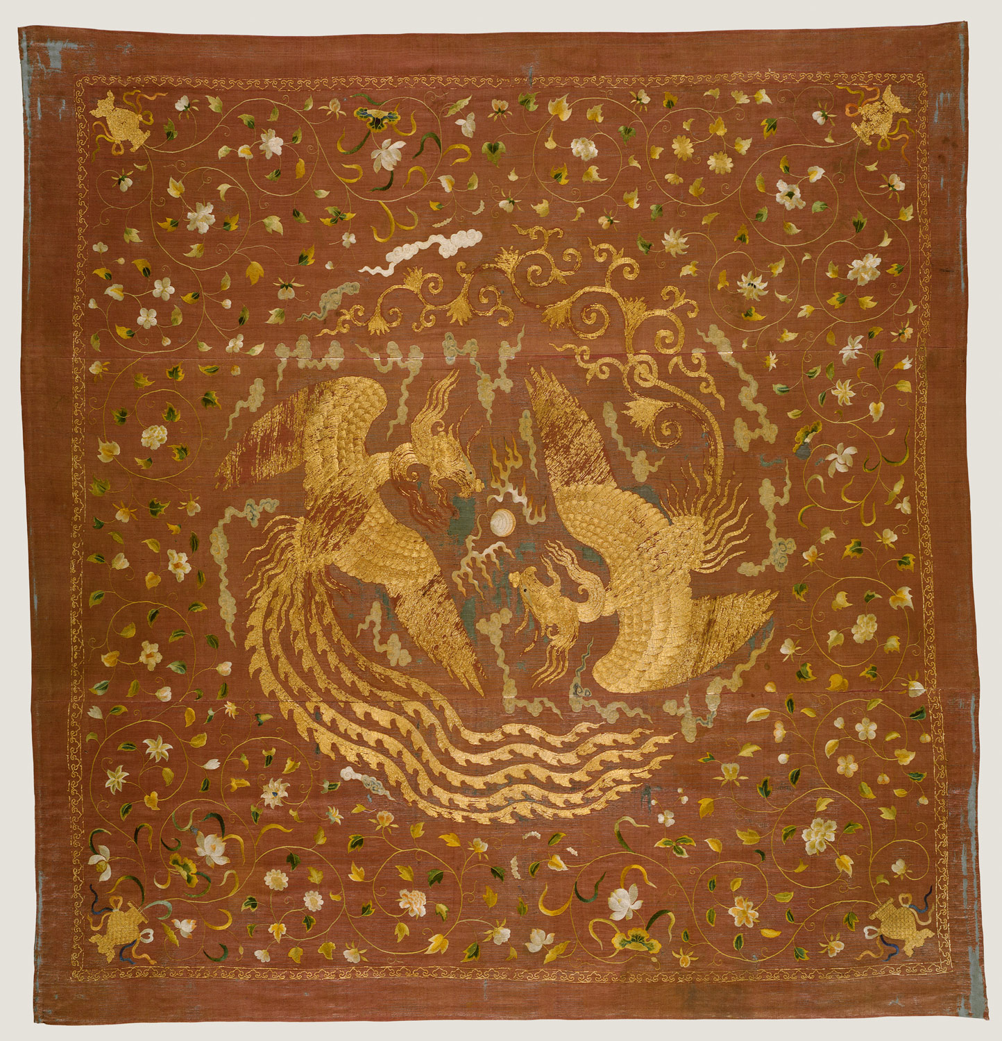 Panel with Phoenixes and Flowers