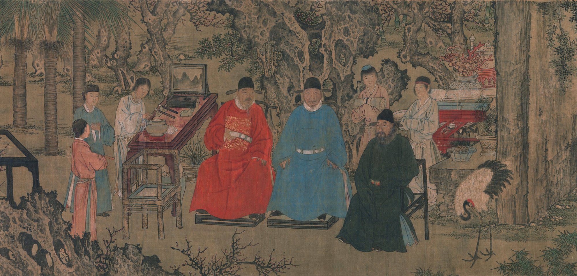 Elegant Gathering in the Apricot Garden