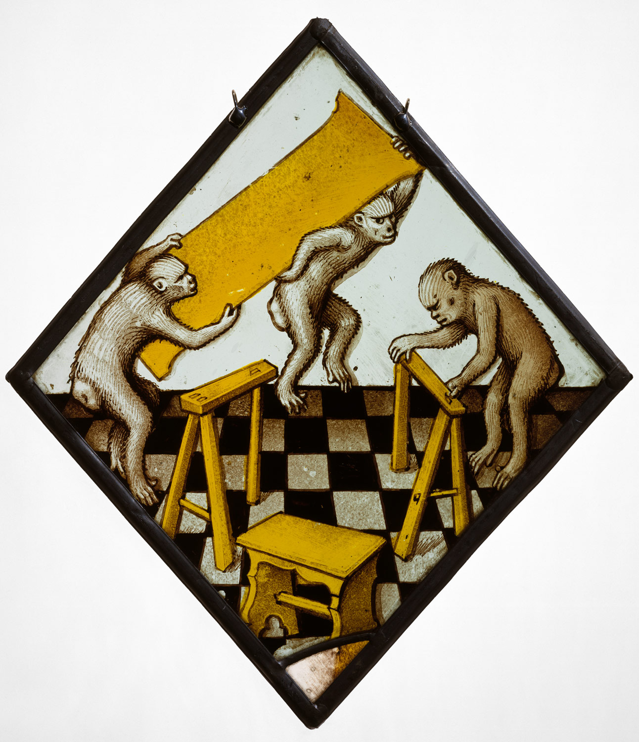 Animals in medieval art essay heilbrunn timeline of art roundel with three apes building a trestle table biocorpaavc Image collections