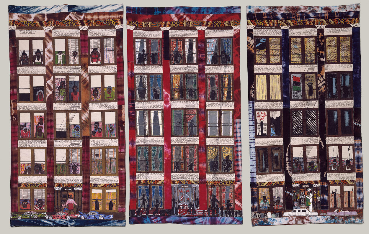 Street Story Quilt | Faith Ringgold | 1990.237a-c | Work of Art ... : quilting history timeline - Adamdwight.com