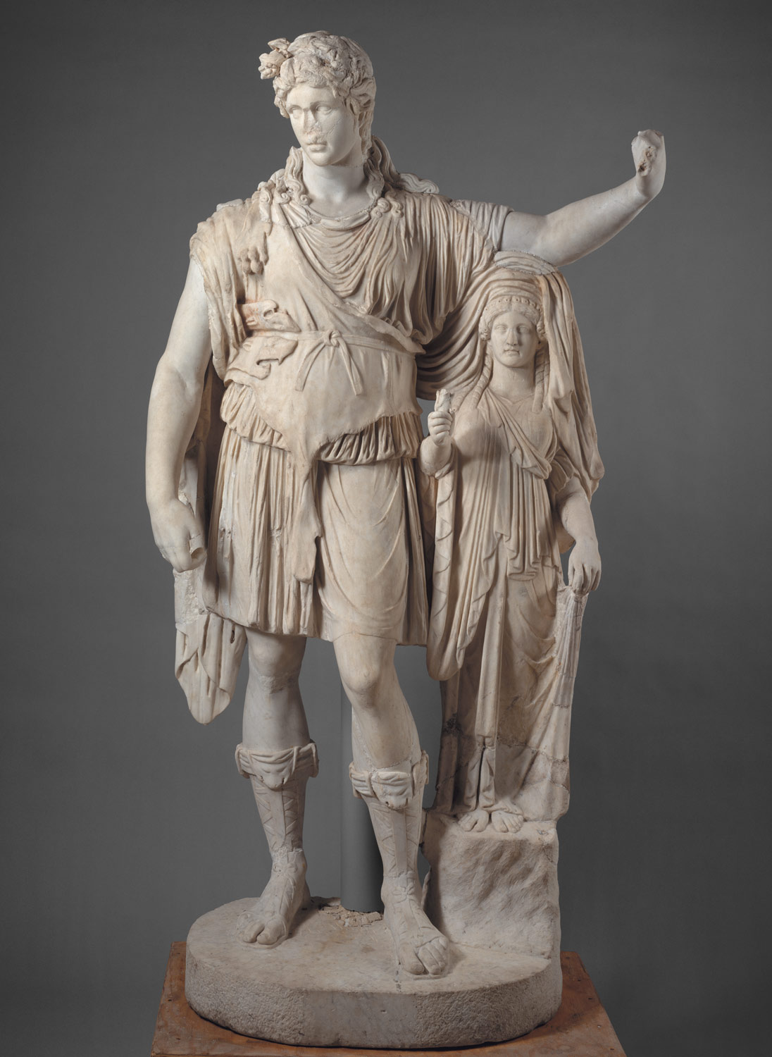 Statue of Dionysos leaning on a female figure (Hope Dionysos)
