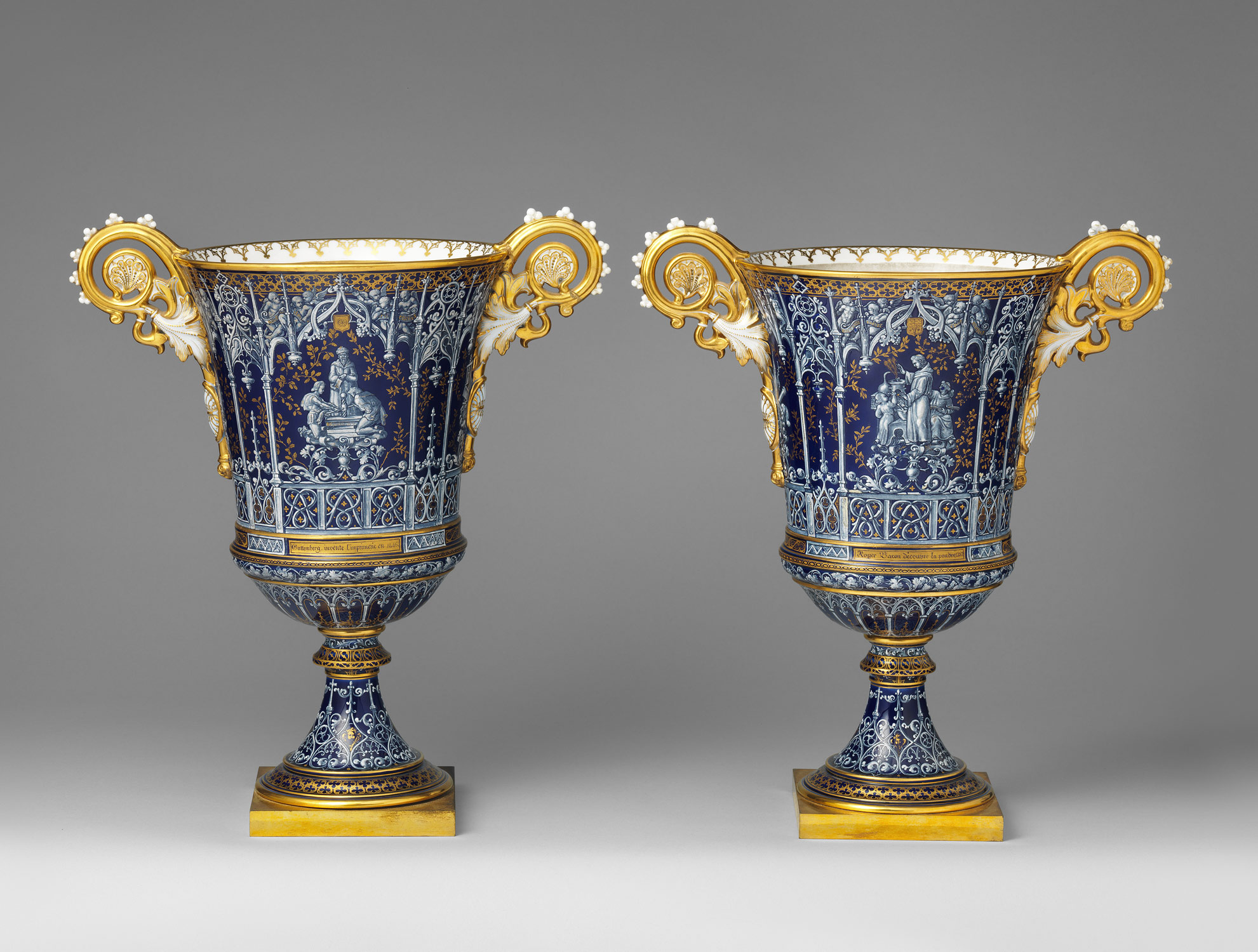 Vase (vase gothique Fragonard) (one of a pair)