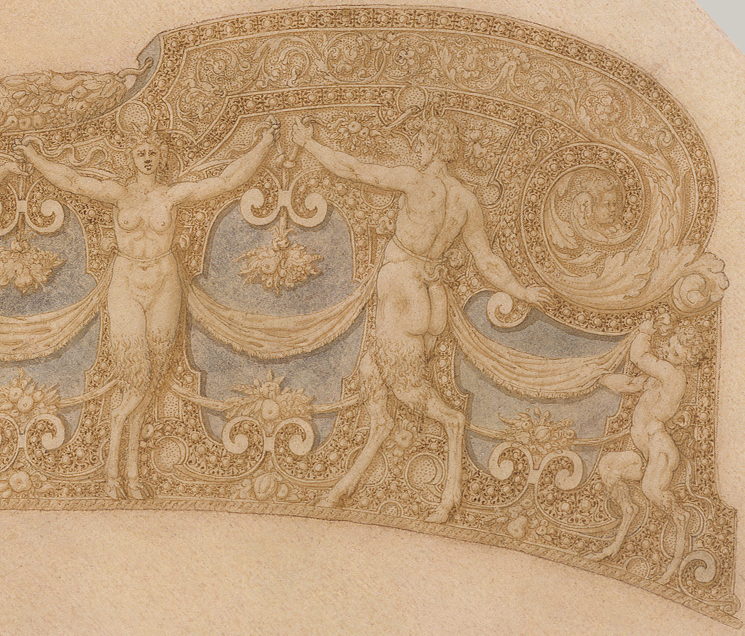 Design for the Pommel Plate of a Saddle from a Garniture of Alessandro Farnese (1545–1592)