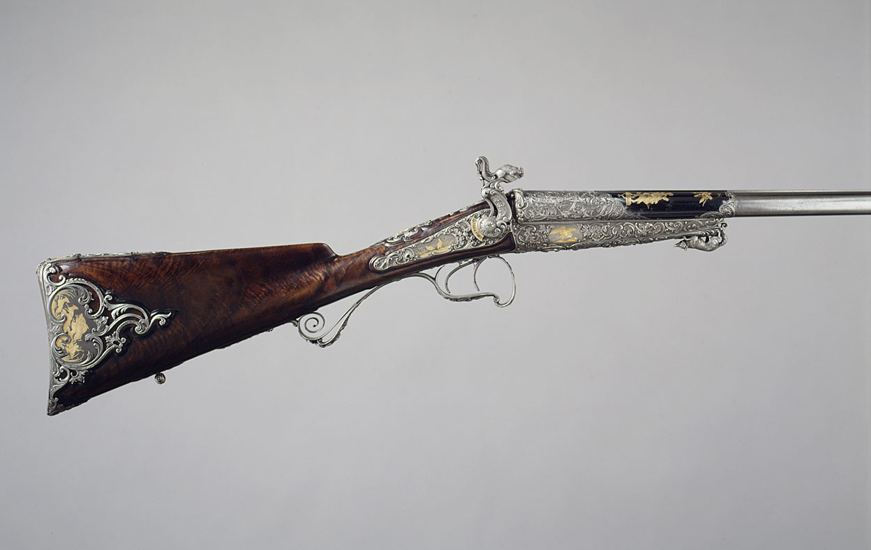 Double-Barrel Breech-Loading Pinfire Shotgun