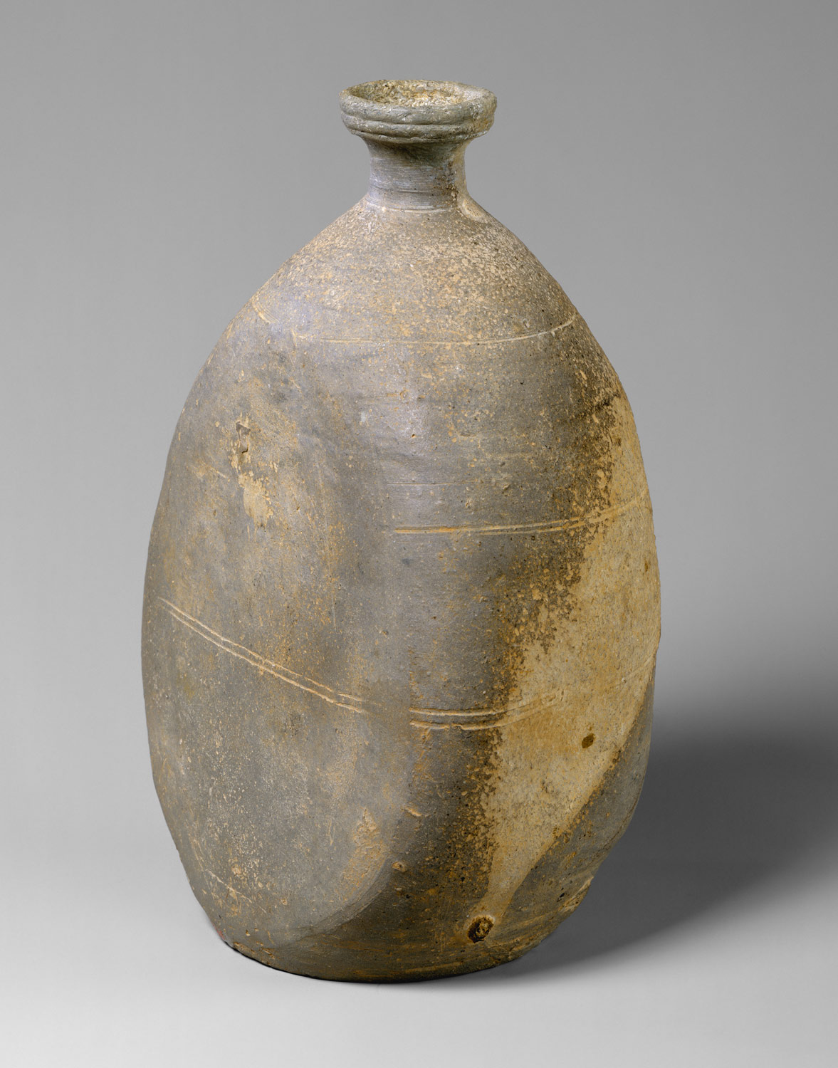 Bottle with flattened side