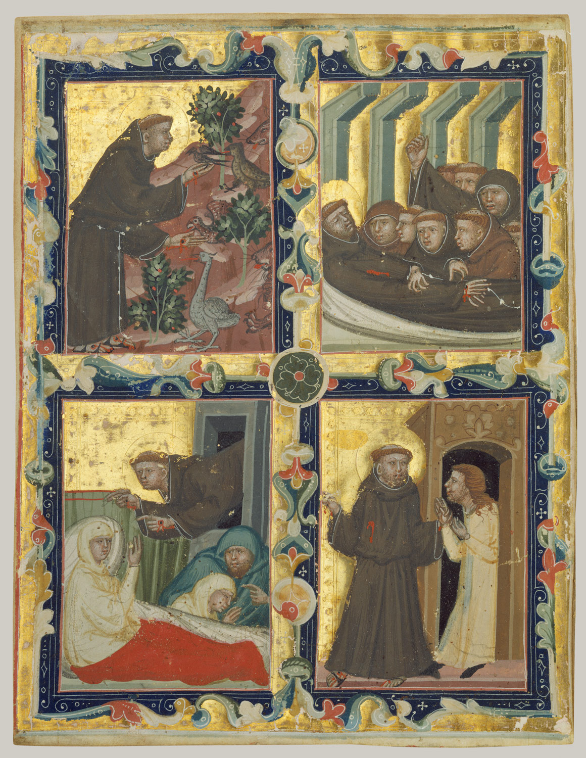 ... Manuscript Leaf with Scenes from the Life of Saint Francis of Assisi ...