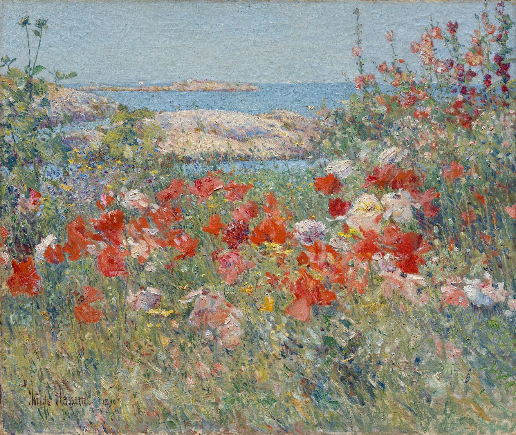 English country garden paintings -  Celia Thaxters Garden Isles Of Shoals