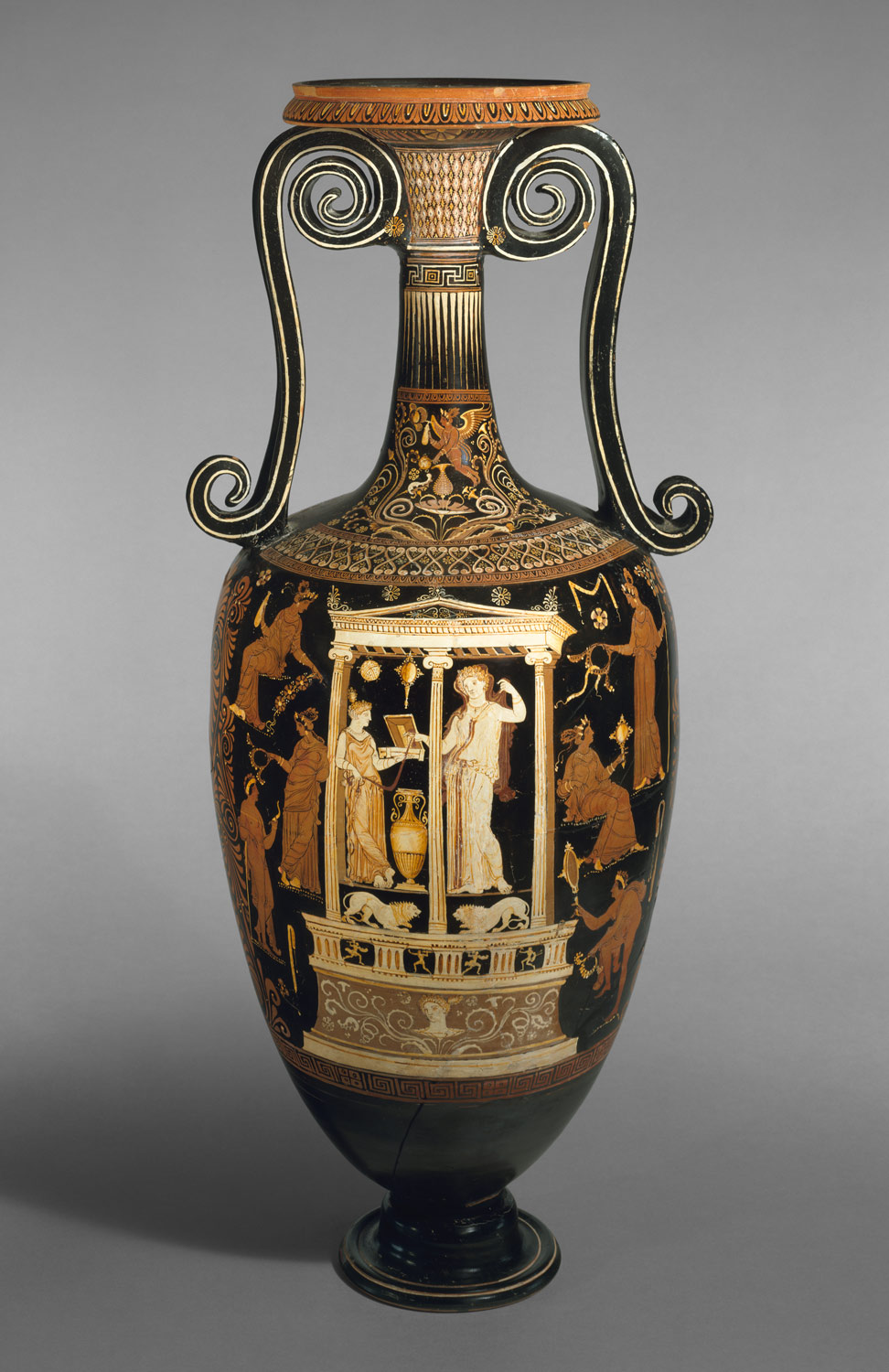 Terracotta loutrophoros (ceremonial vase for water)