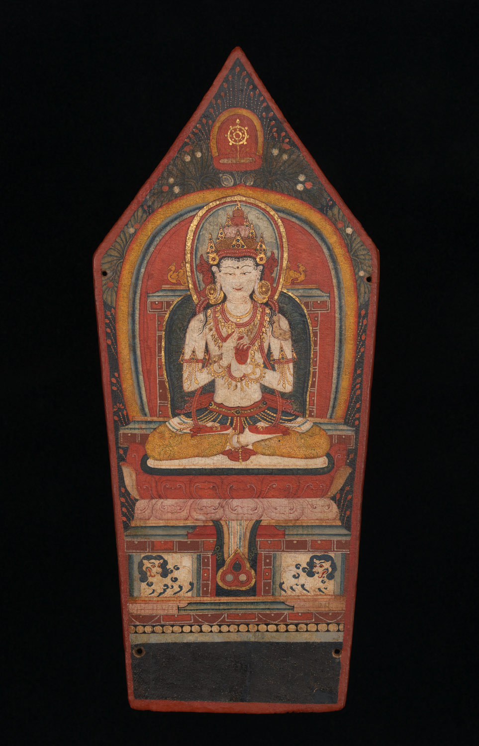 Panel from a Buddhist Ritual Crown Depicting Vairochana