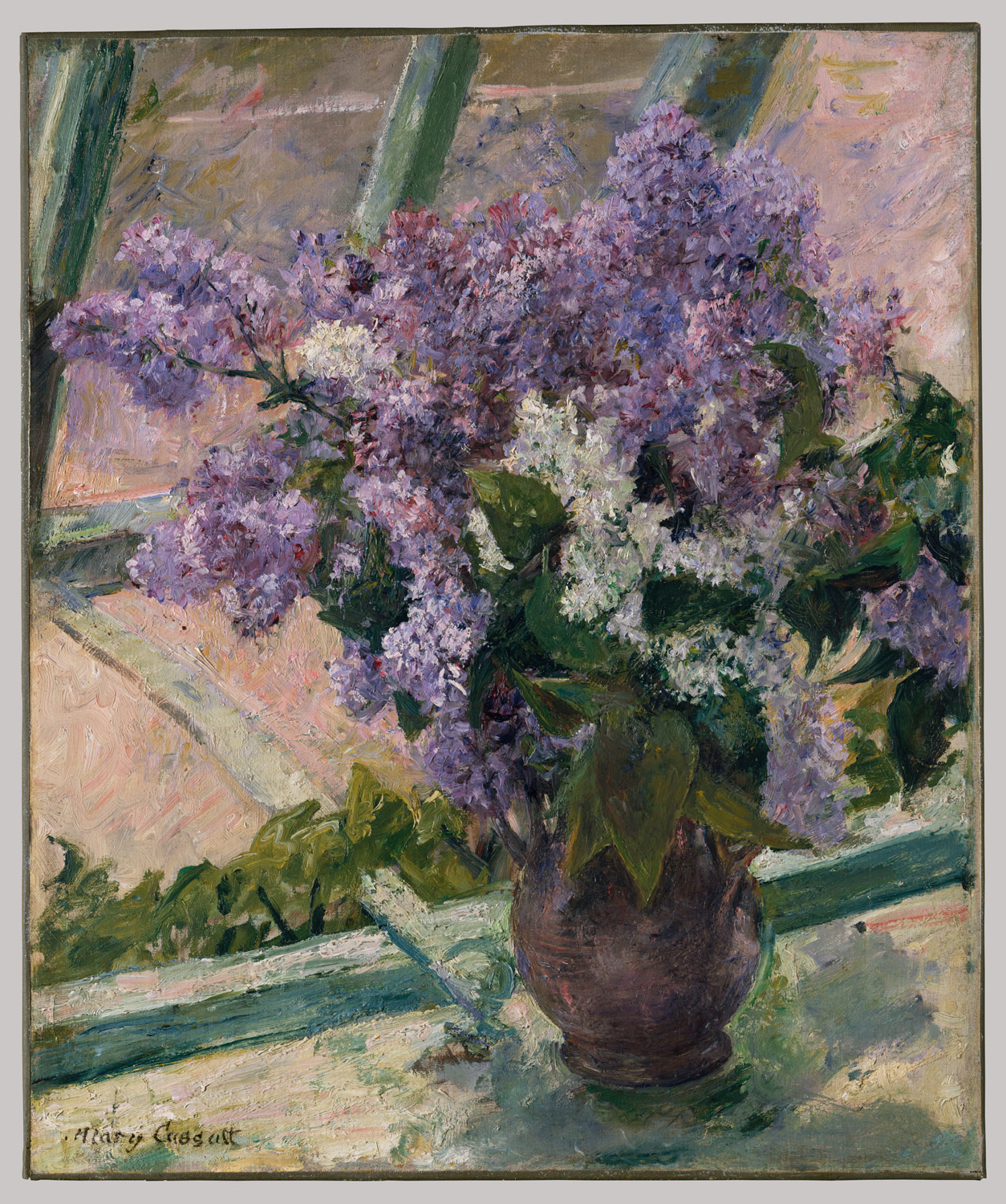 Lilacs in a Window (Vase de Lilas a la Fenetre)