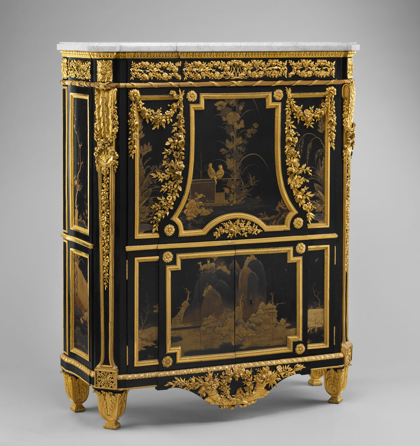 ... Drop-front secretary (Secrétaire en armoire) ... - The Golden Age Of French Furniture In The Eighteenth Century Essay