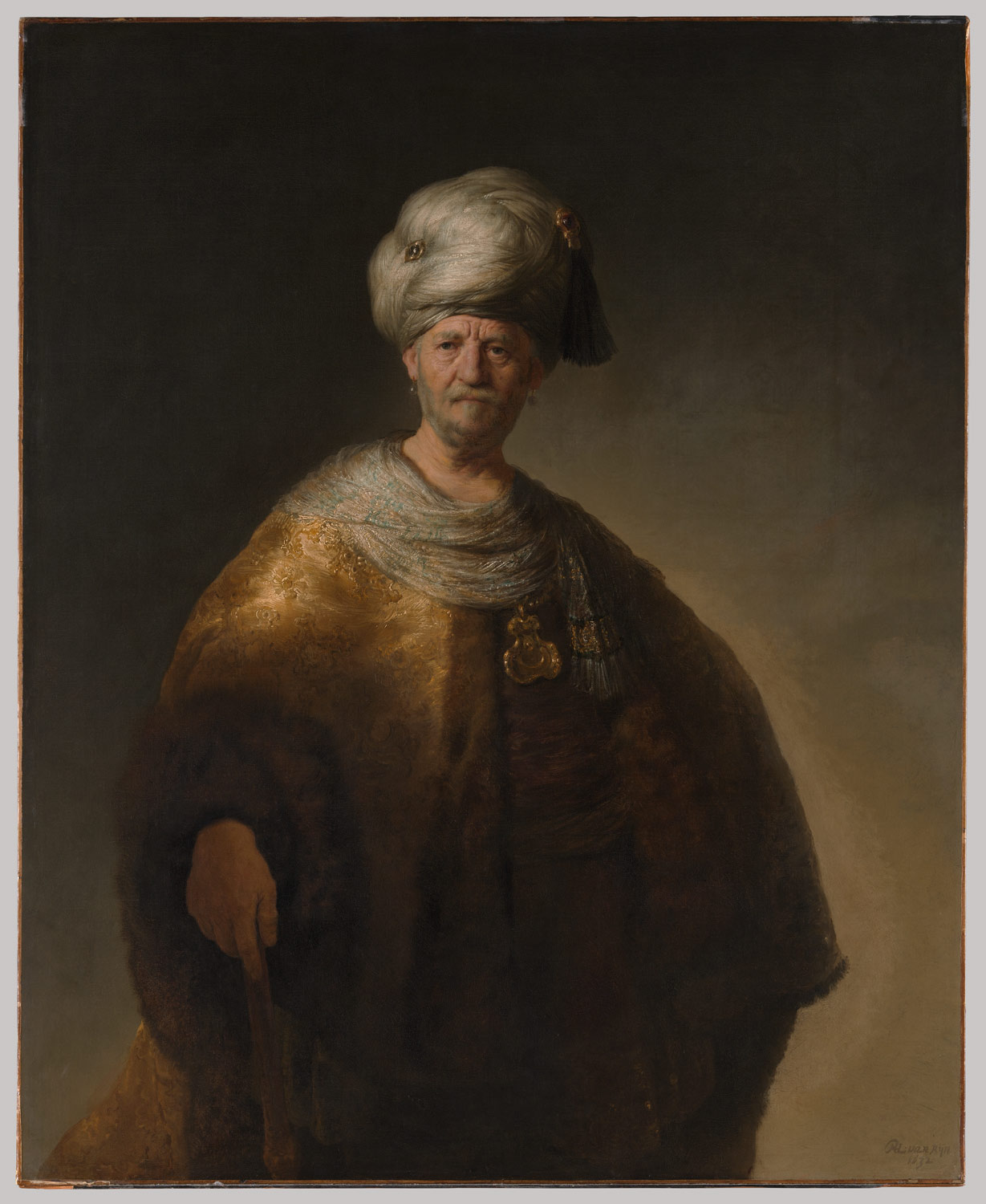 rembrandt van rijn paintings essay heilbrunn man in oriental costume the noble slav