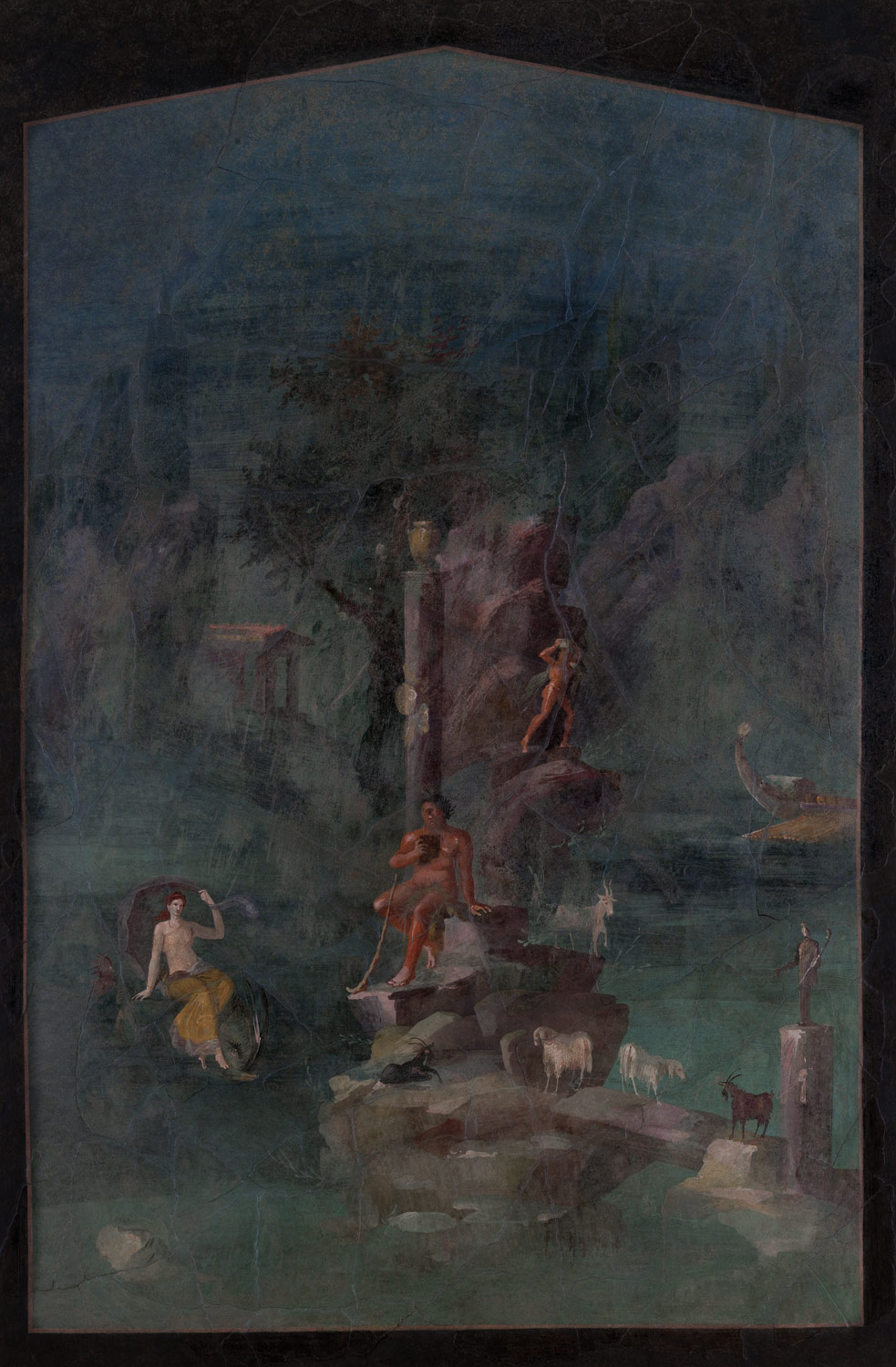 Wall Painting Polyphemus And Galatea In A Landscape From The