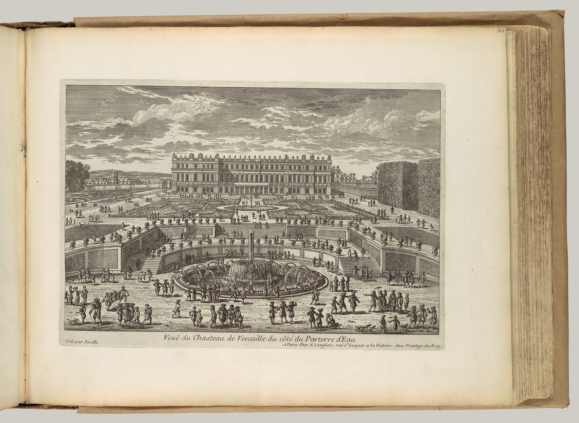 Veue du chasteau de Versailles (View of Versailles, garden facade): From the series eues des plus Beaux Lieux de France et dItalie . . .