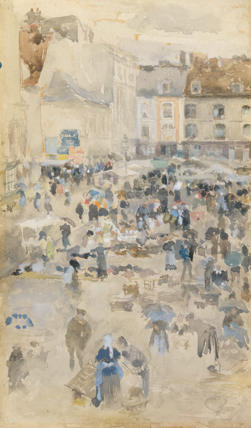 Variations in Violet and Grey—Market Place, Dieppe