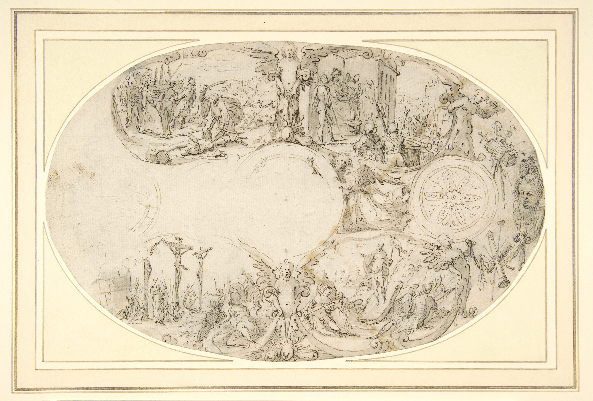 Design for a Silver Vessel with Scenes from the Passion of Christ