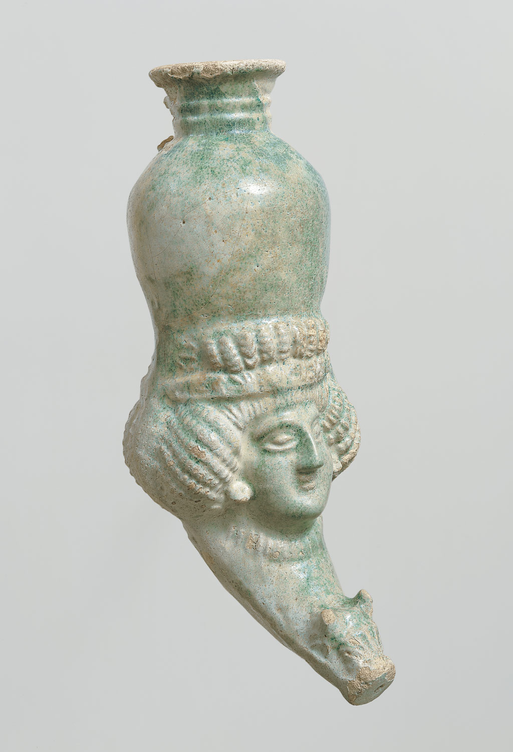 Rhyton with female head
