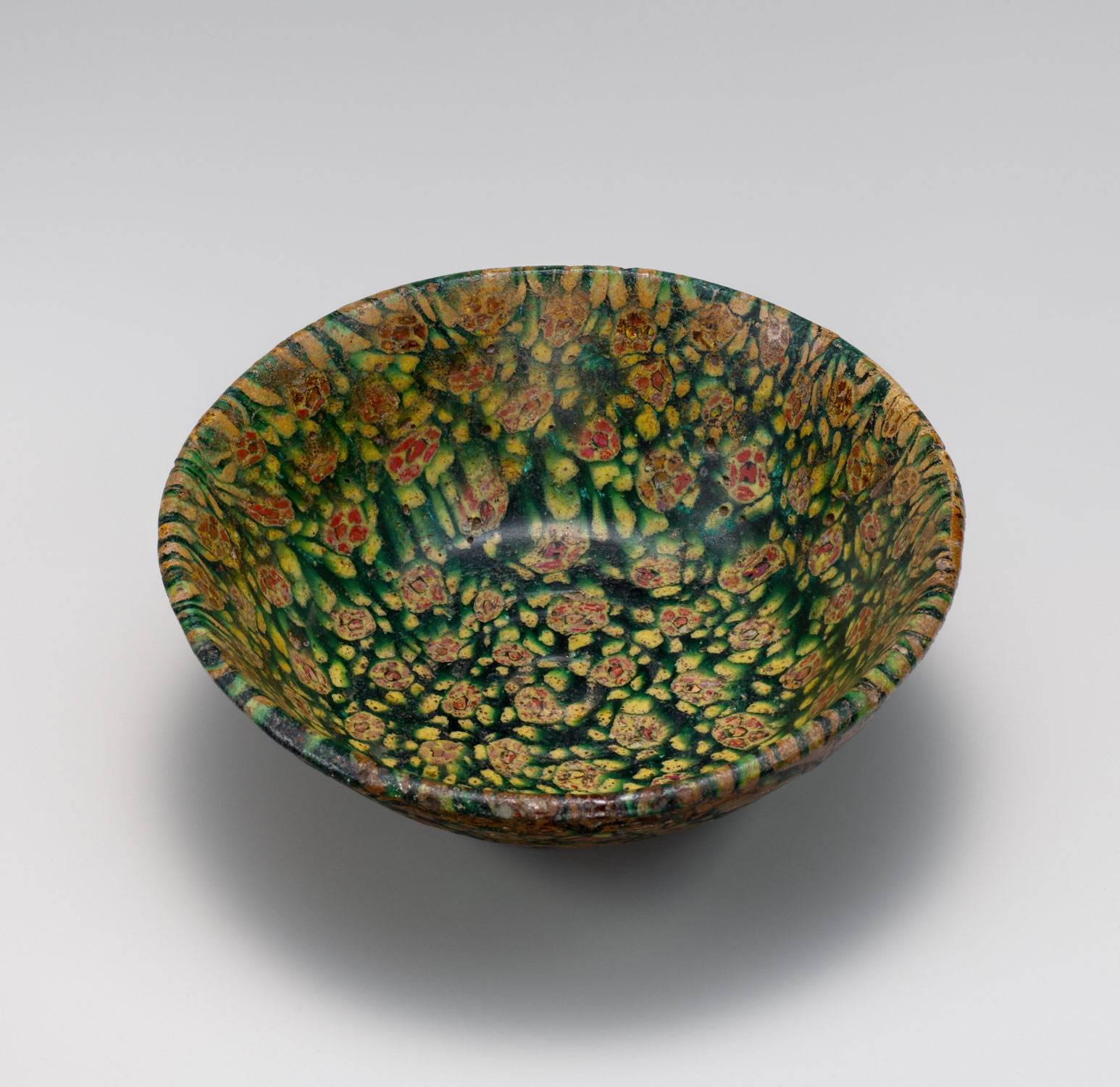 Glass Bowl in Millefiori Technique, ,Glass