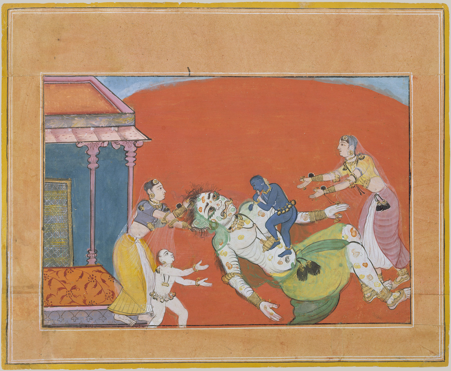 The Death of the Demoness Putana: Folio from a Bhagavata Purana Series