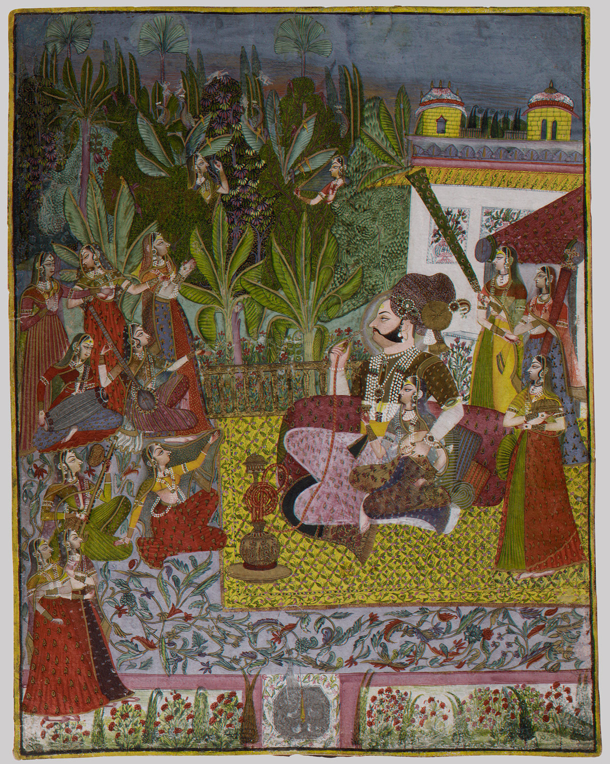 Maharaja Bijay Singh in His Harem