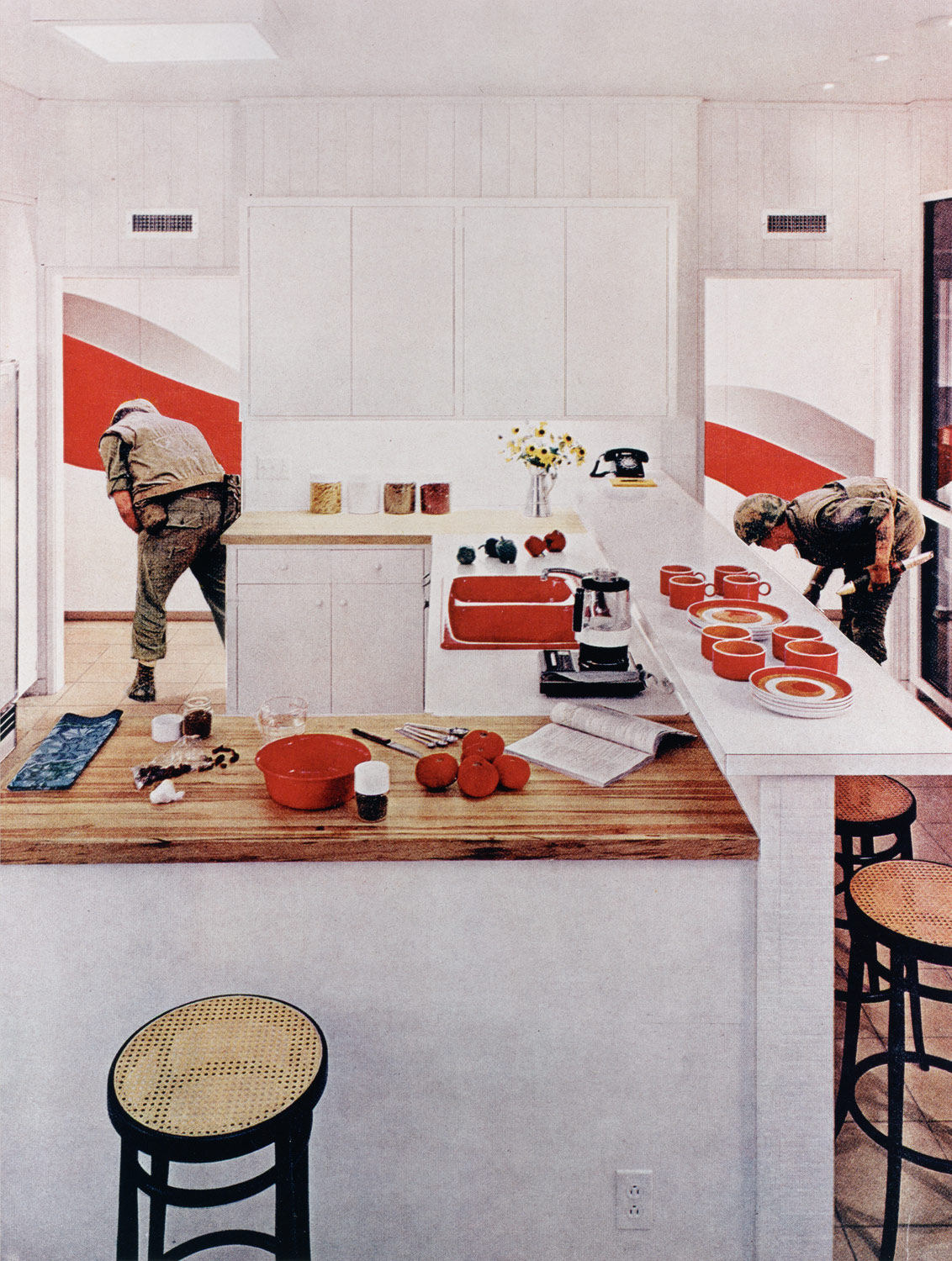 Red Stripe Kitchen, From The Series House Beautiful: Bringing The War Home