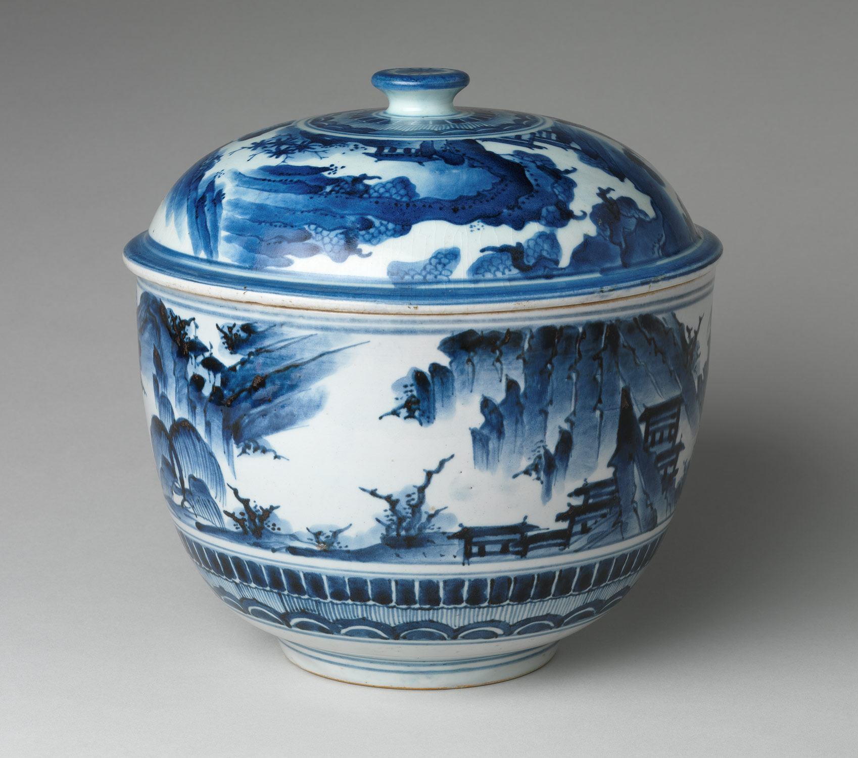 Tureen with Landscape