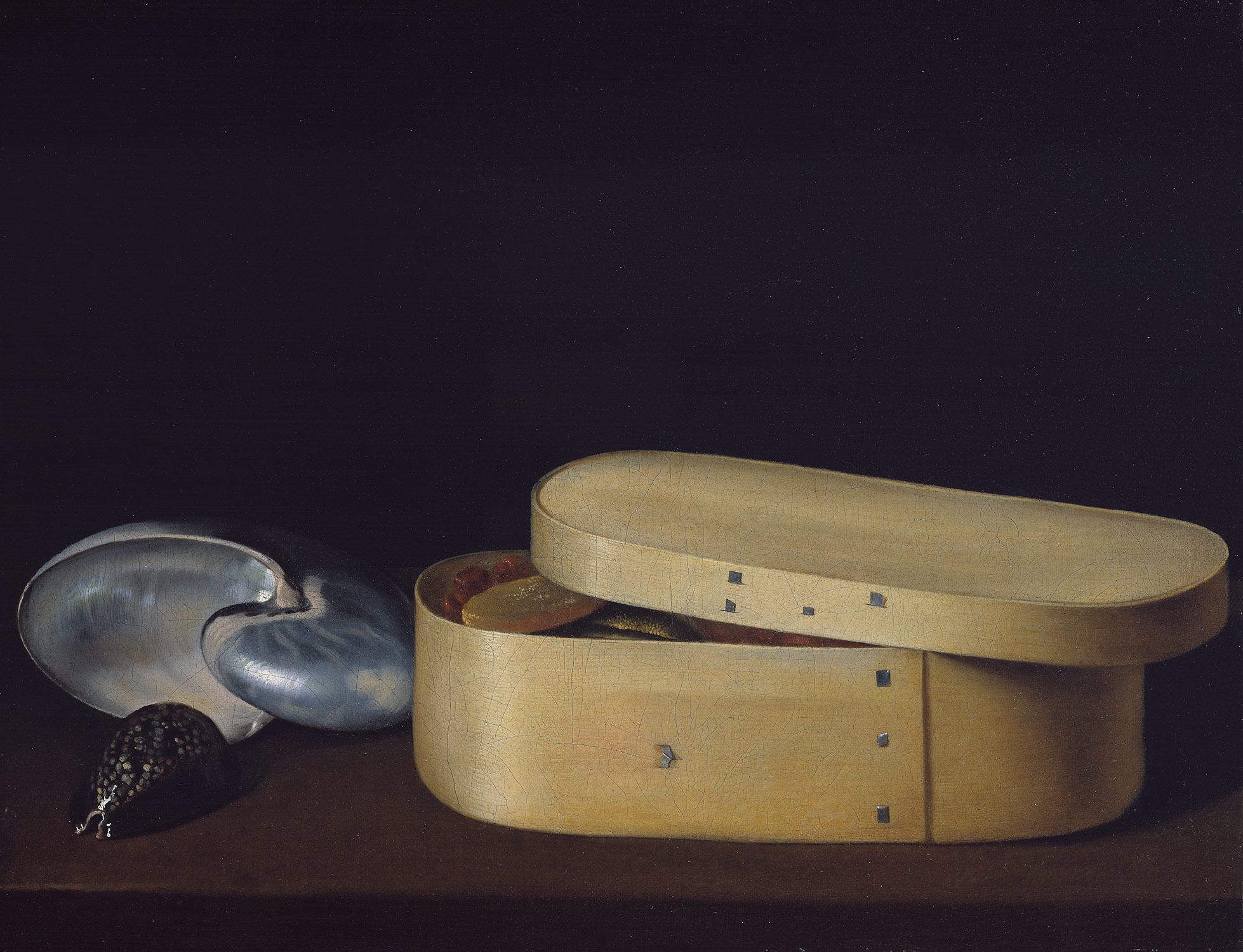 ... Still Life with a Nautilus, Panther Shell, and Chip-Wood Box ...