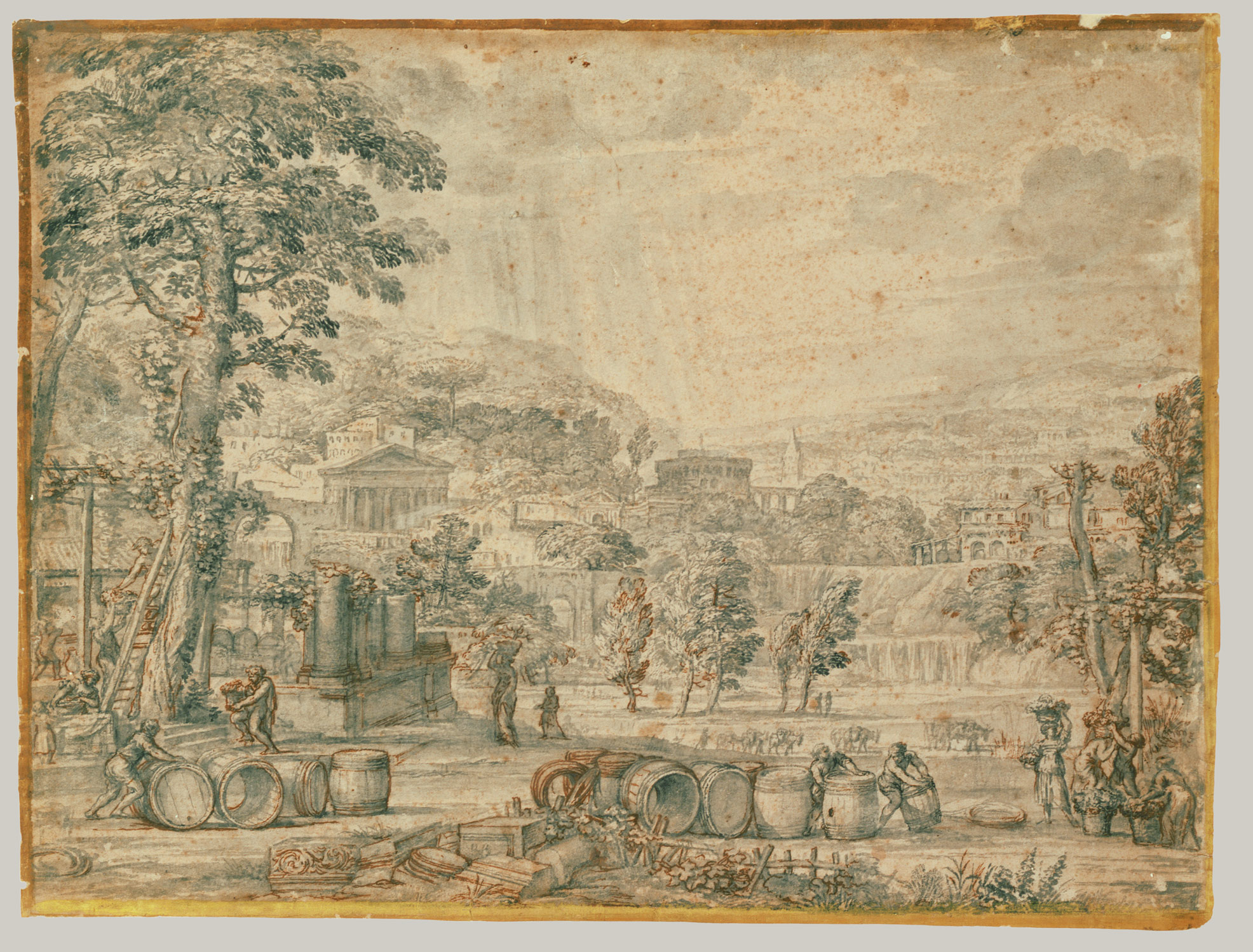 Landscape with Wine Harvest