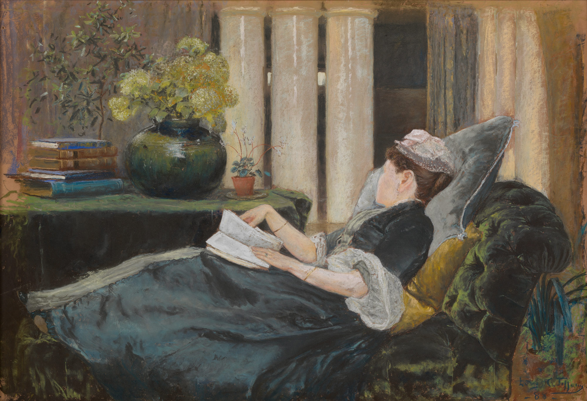 Louise Tiffany, Reading