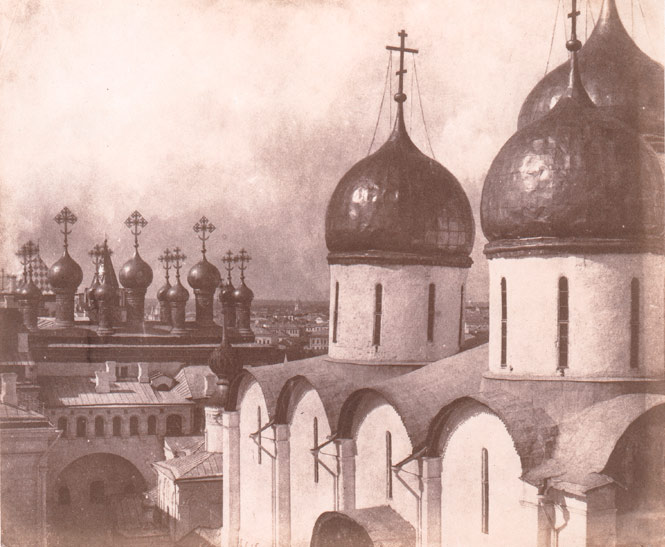Moscow, Domes of Churches in the Kremlin