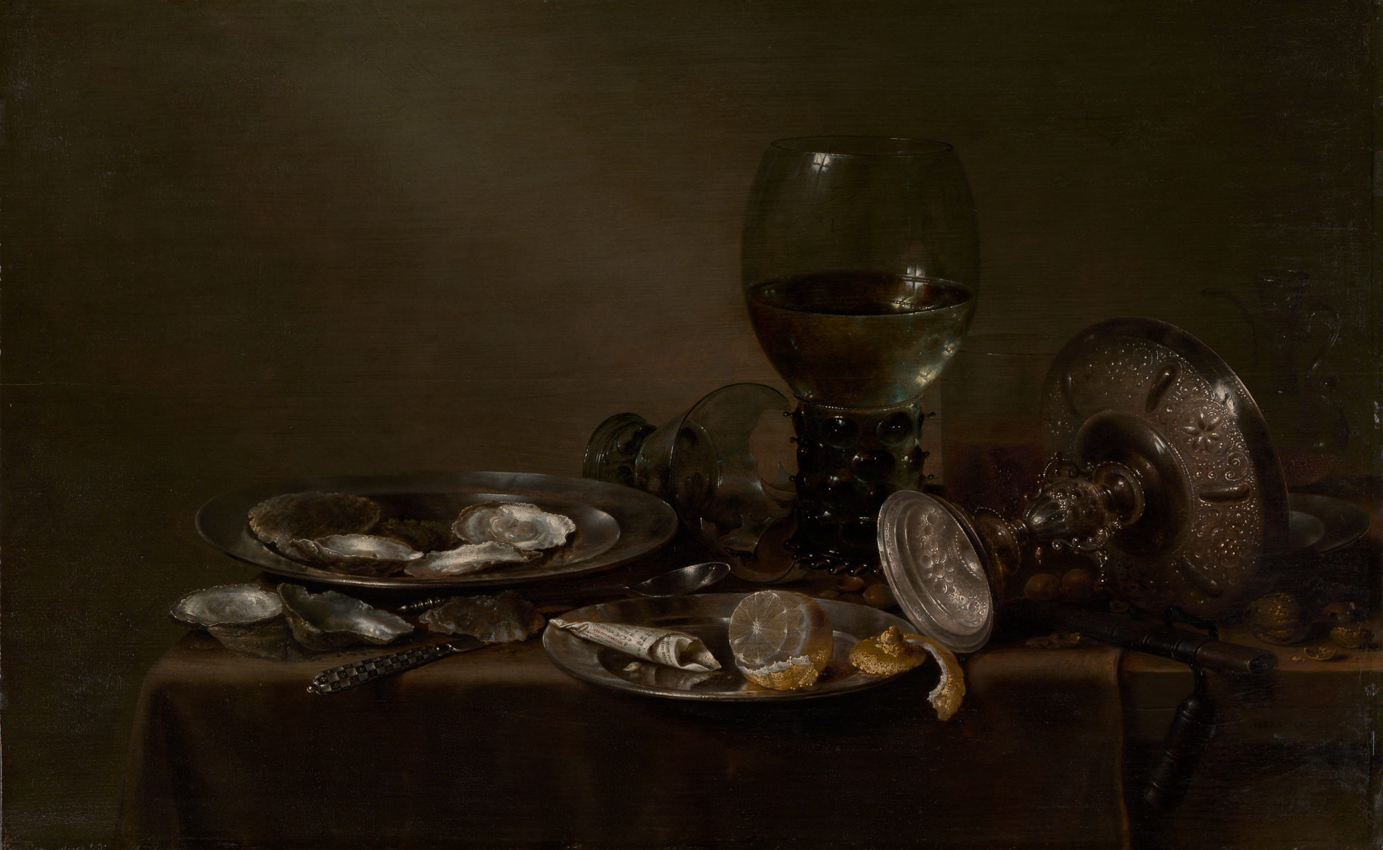 Still Life with Oysters, a Silver Tazza, and Glassware