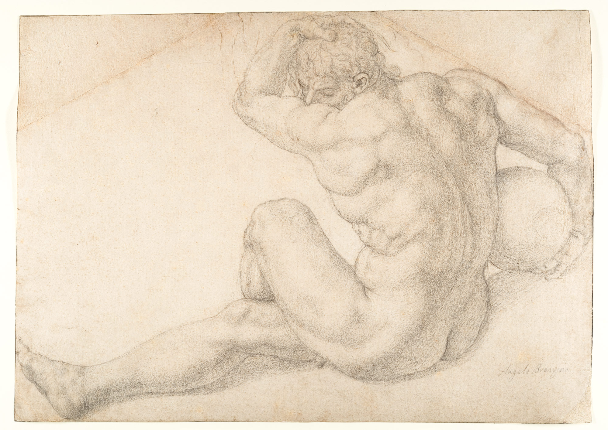 Seated Male Nude (Study for the Martyrdom of St. Lawrence)