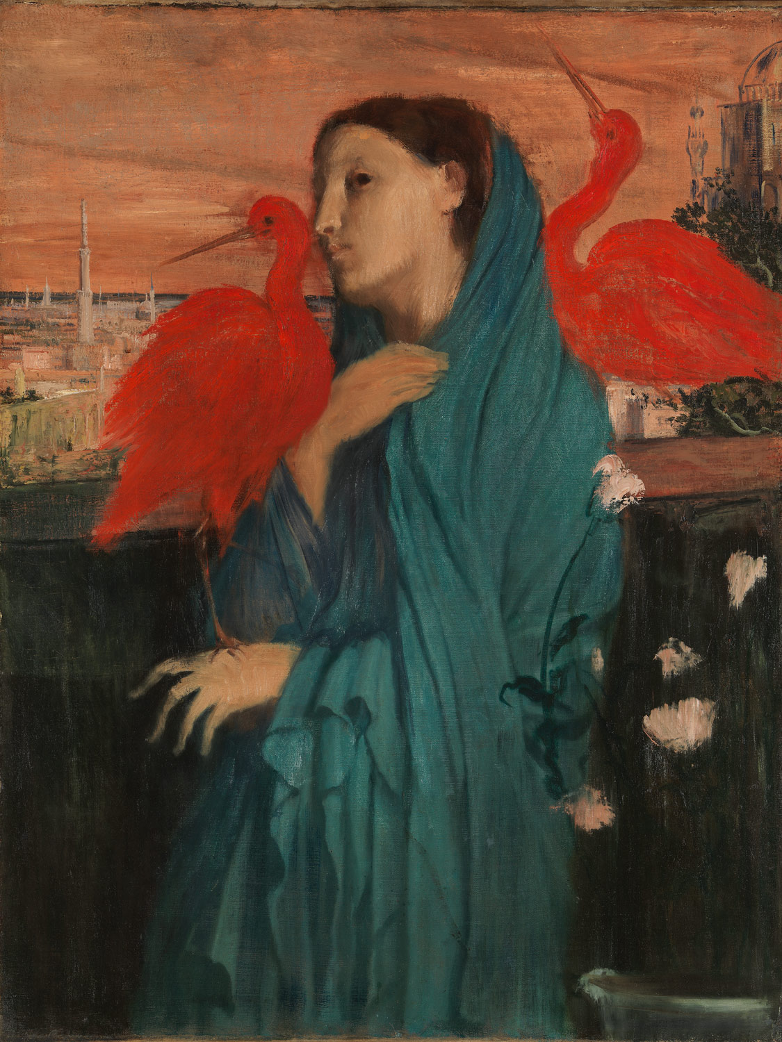 Young Woman with Ibis