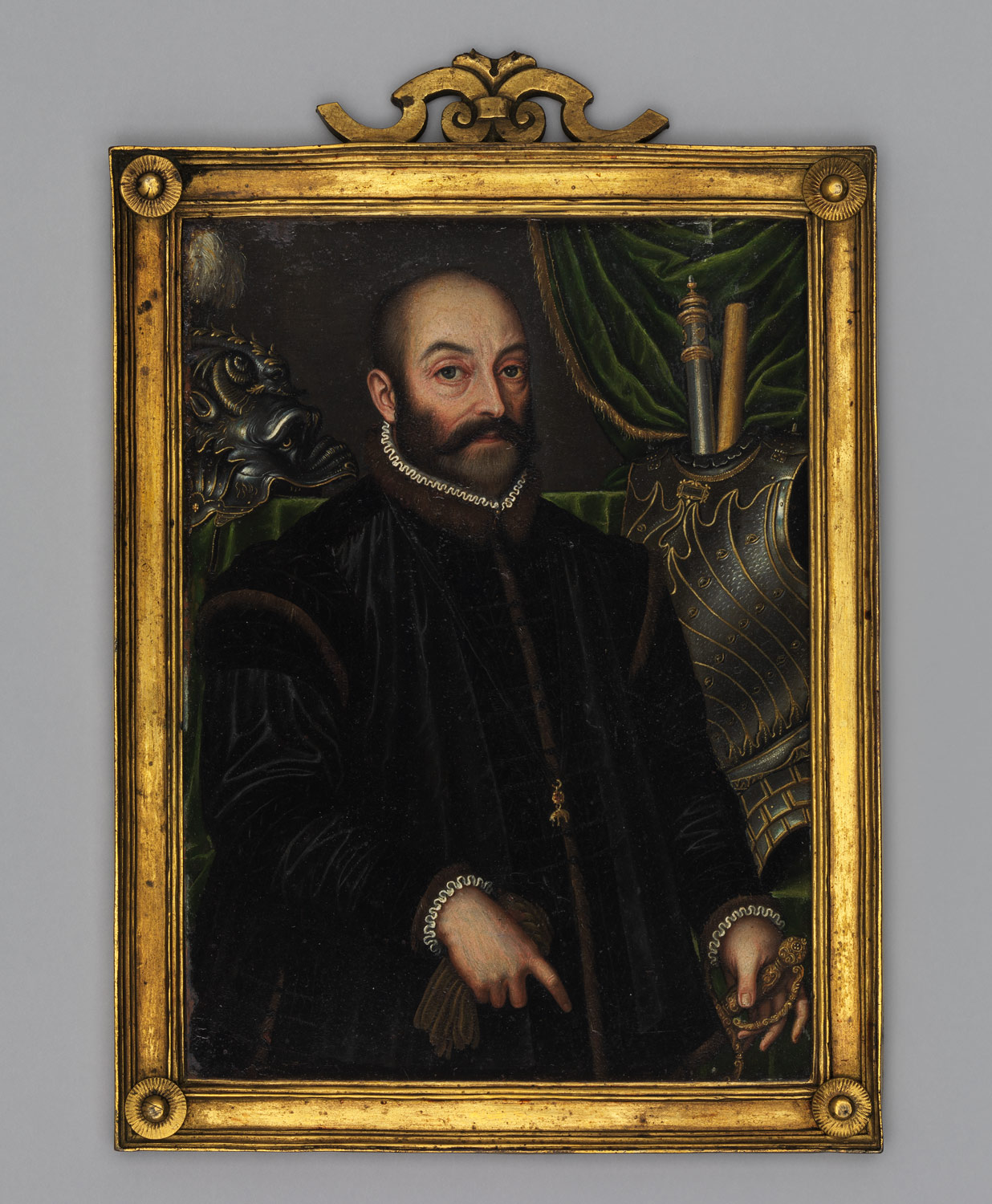 Guidobaldo II della Rovere, Duke of Urbino (1514–1574), With his  Armor by Filippo Negroli
