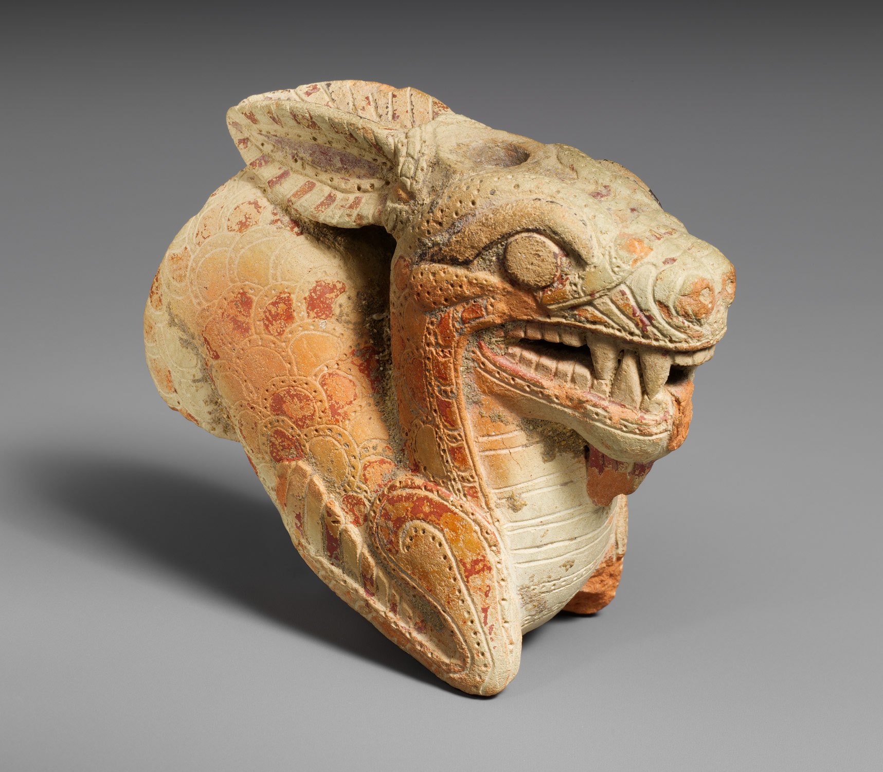 Terracotta vase in the form of a ketos (sea monster)