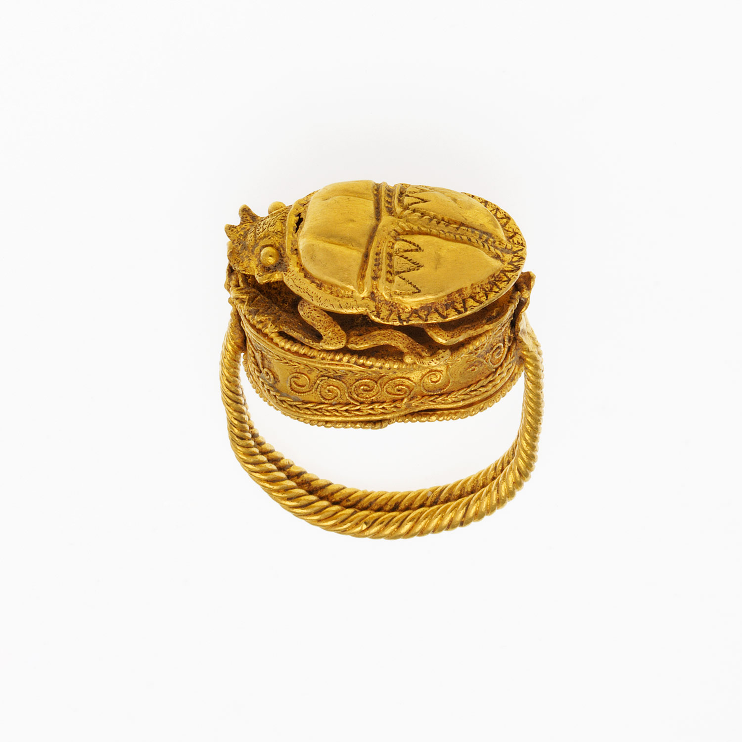Gold Box Surmounted by a Scarab
