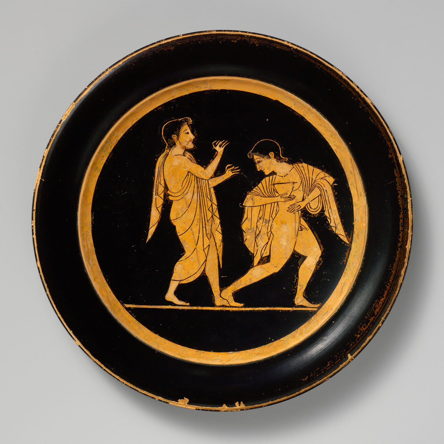 Terracotta plate & Terracotta plate | Attributed to Paseas | 2010.64 | Work of Art ...