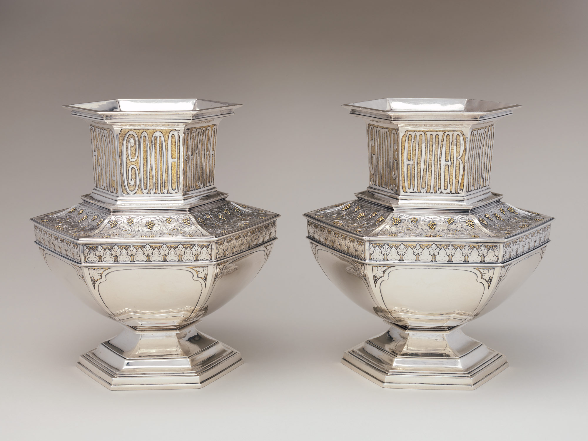 Arthur J. Stone and Herbert Taylor: Pair of Vases
