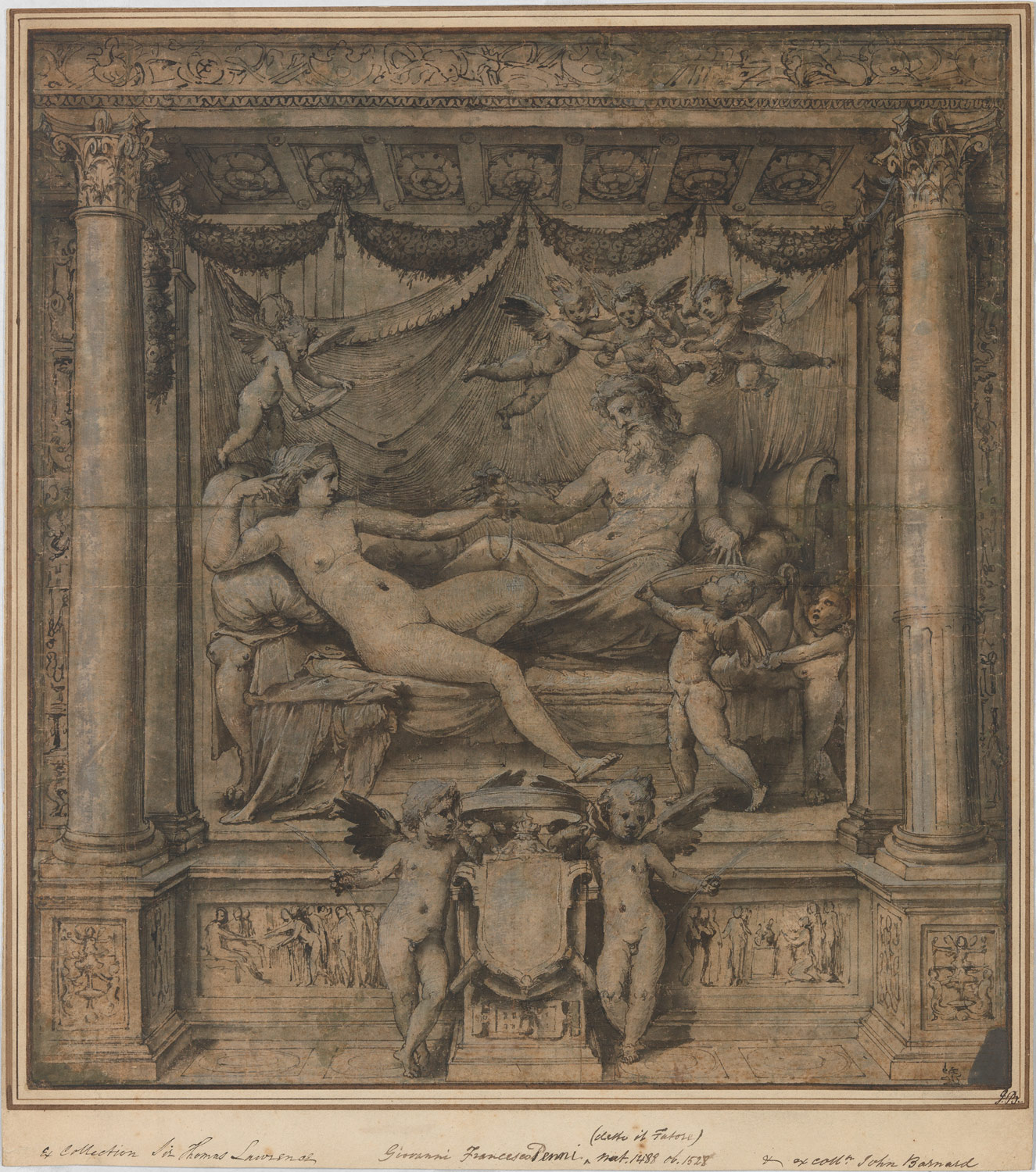 Jupiter and Juno: Study for the Furti di Giove Tapestries