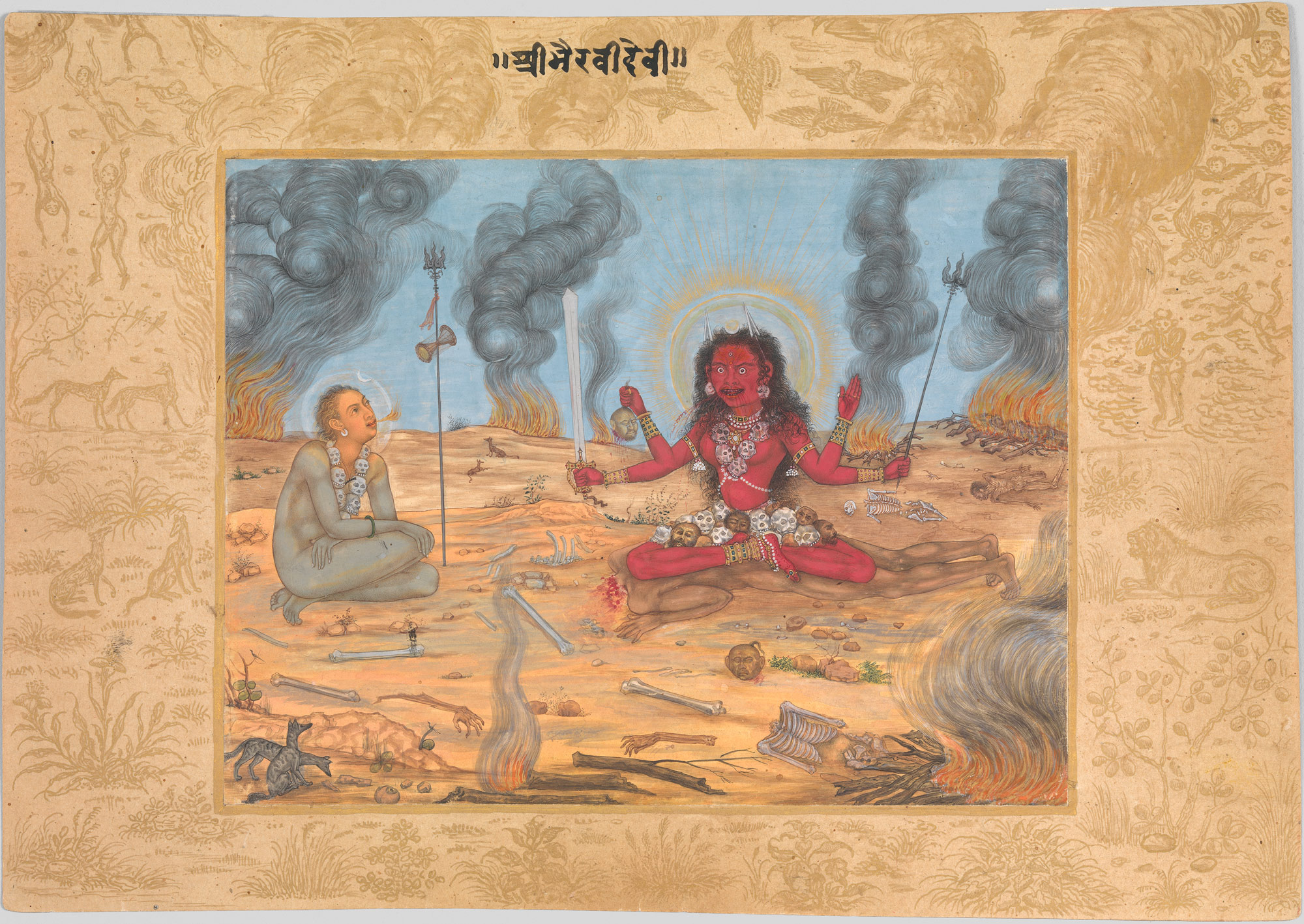 the goddess bhairavi devi with shiva attributed to payag