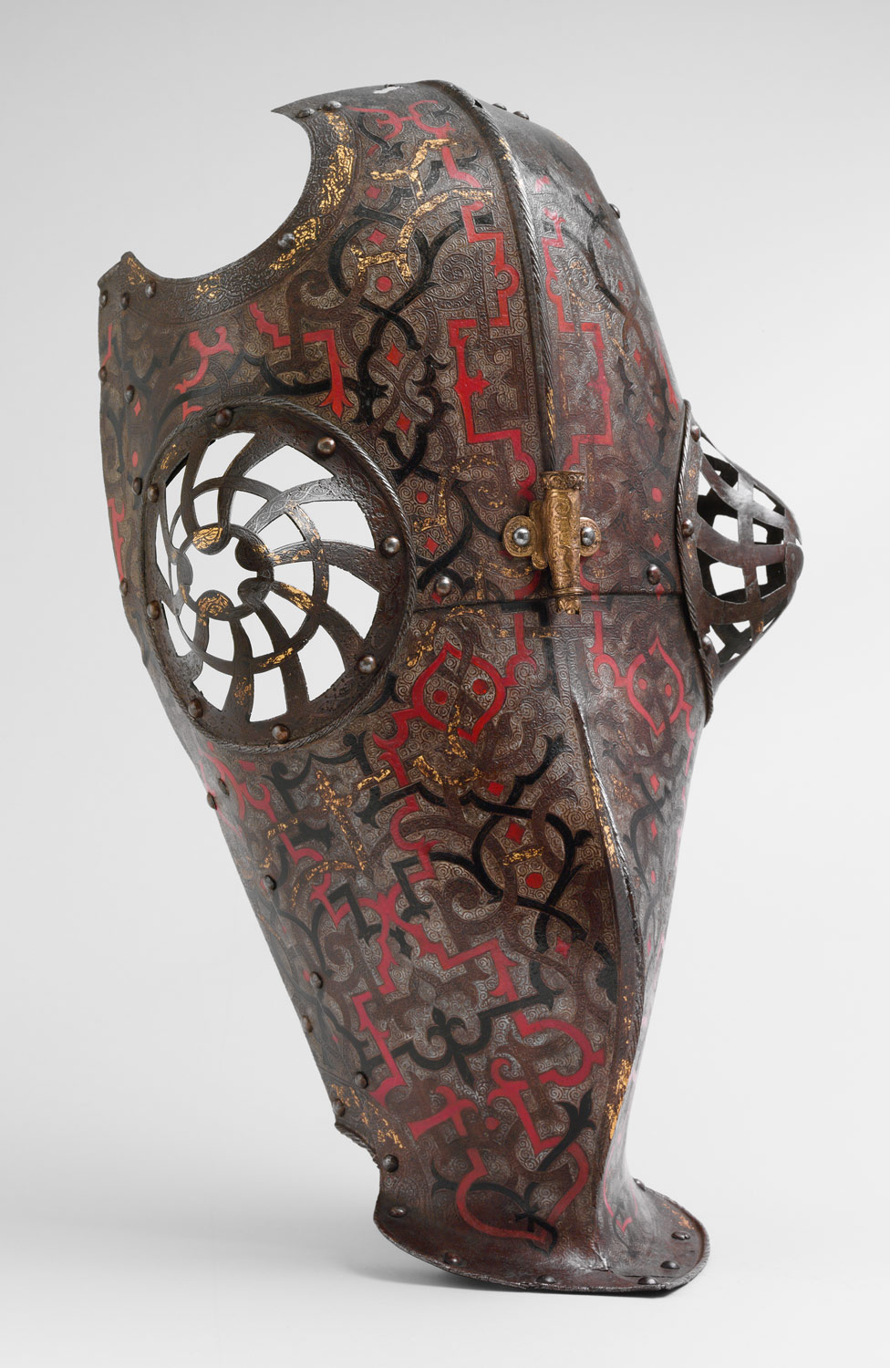 Shaffron Belonging to an Armor for Field and Tournament Made for Duke Nikolaus The Black Radziwill (1515–1565), Duke of Nesvizh and Olyka, Prince of the Empire, Grand Chancellor and Marshal of Lithuania