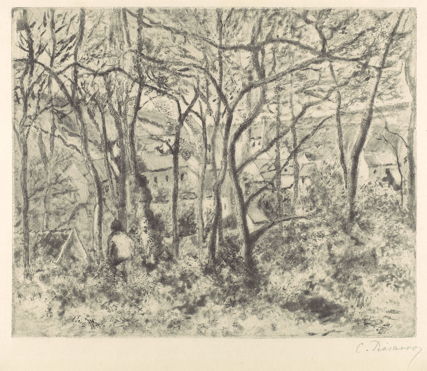 Wooded Landscape at LHermitage, Pontoise