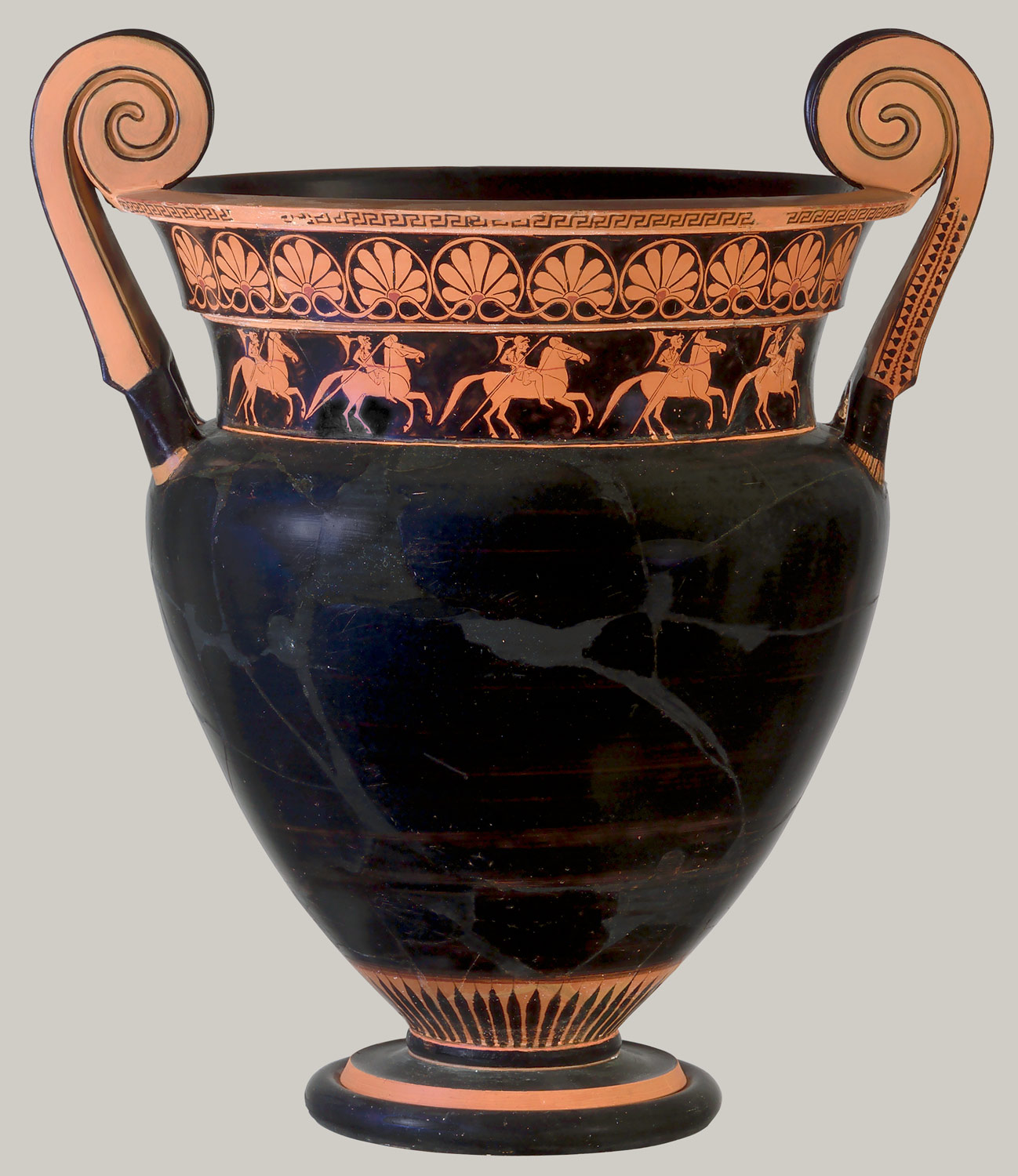 Terracotta Volute Krater Bowl For Mixing Wine And Water