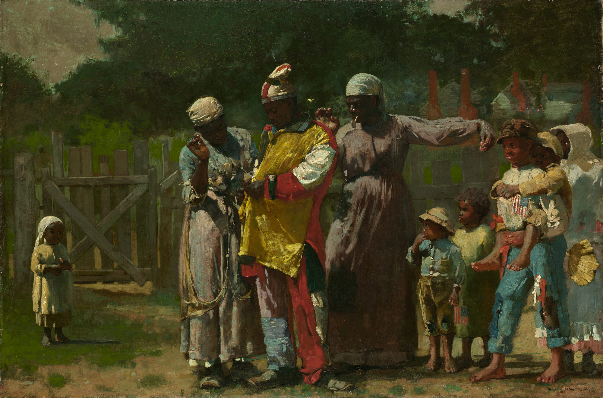 dressing for the carnival winslow homer work of art dressing for the carnival